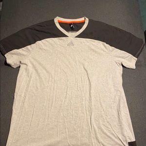 Size 2 XL grey adidas short sleeve shirt
